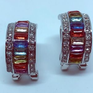 Multi-Gem Fashion Earrings